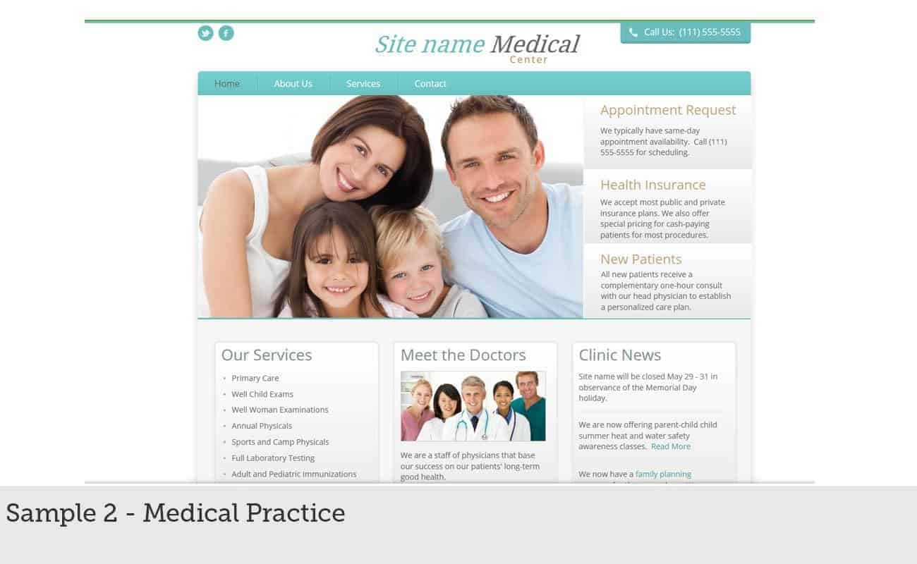 Website Builder Sample 2 - Medical Practice