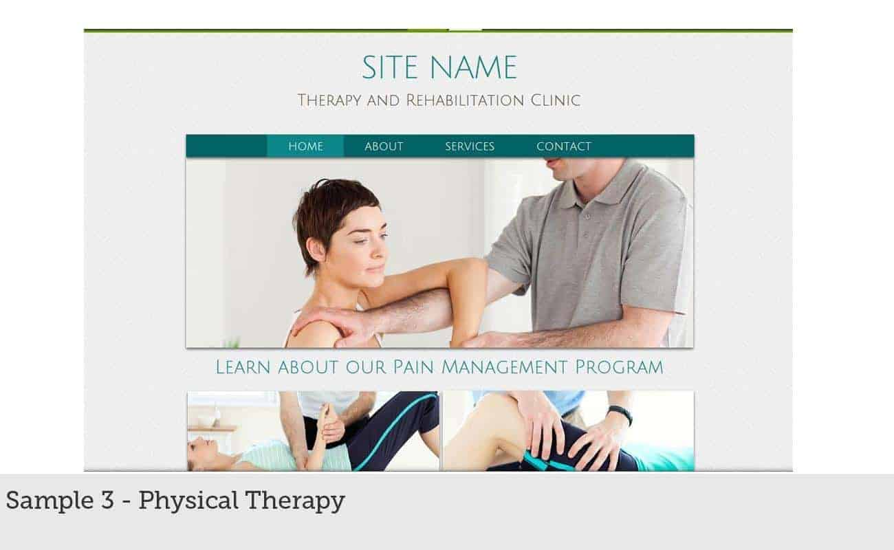 Website Builder Sample 3 - Physical Therapy
