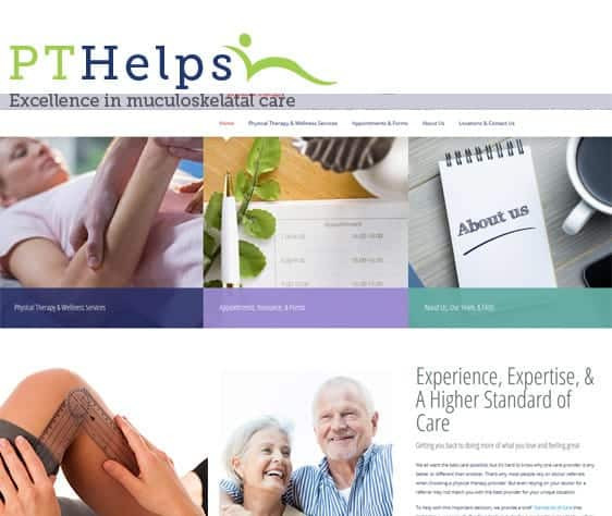 Websites for physical therapists - pt referral machine screen shot