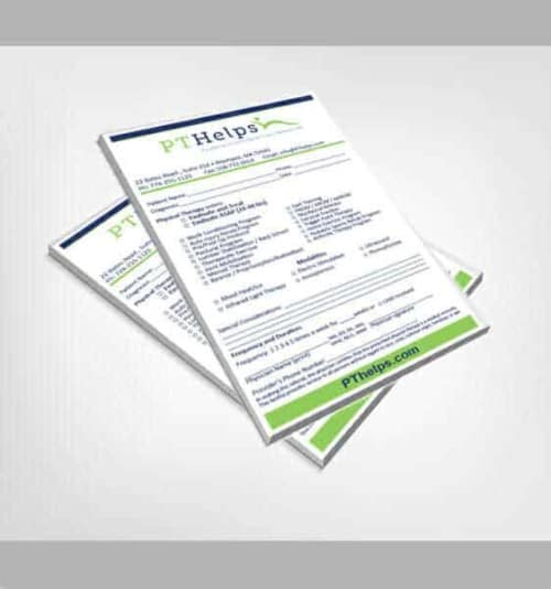 physical therapy prescription pads