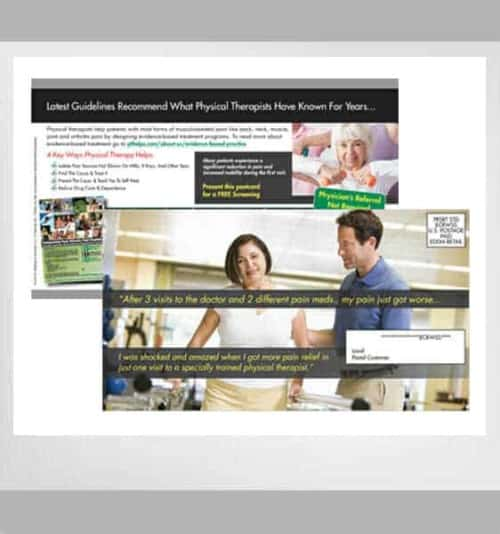 Every Door Direct Mail Physical Therapy Postcards