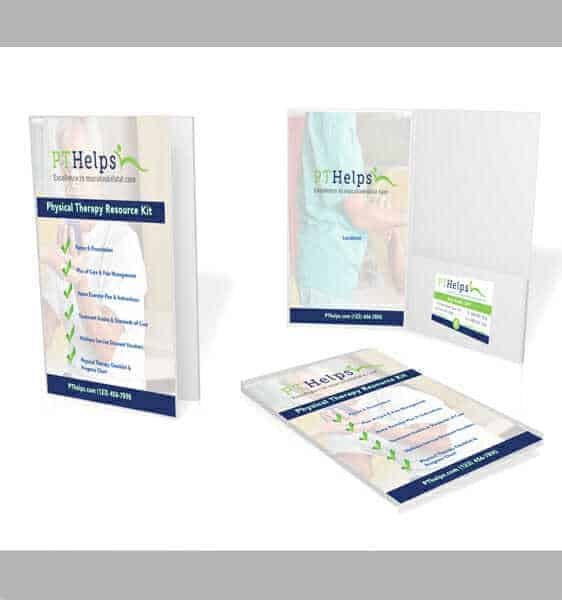 physical therapist presentation folders