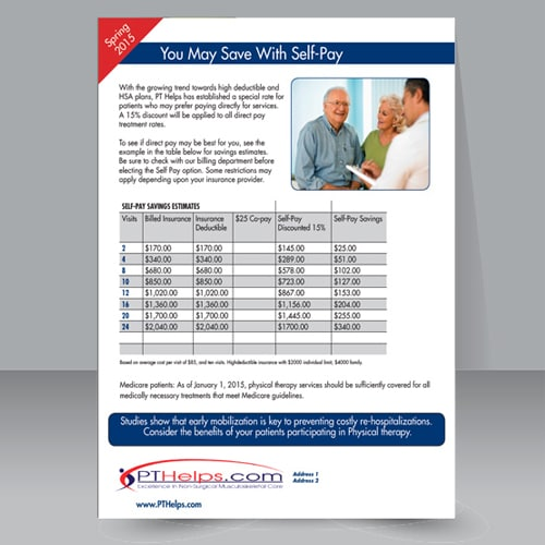 Physical therapy flyers