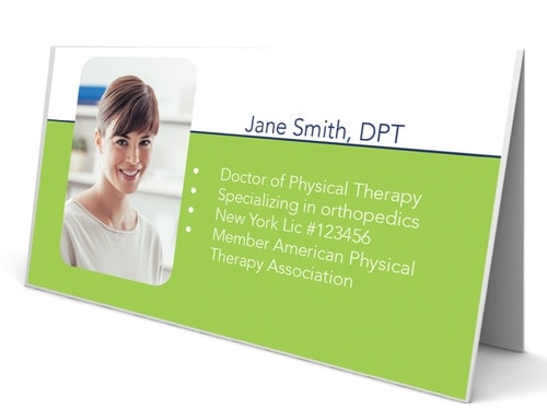 Folded Business Cards For Physical Therapists