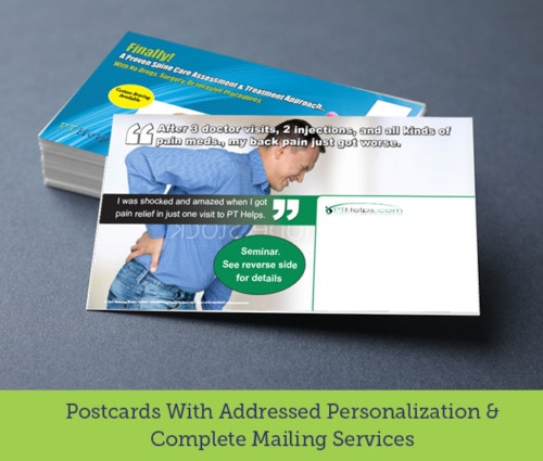 Addressed Mail Physical Therapy Postcards