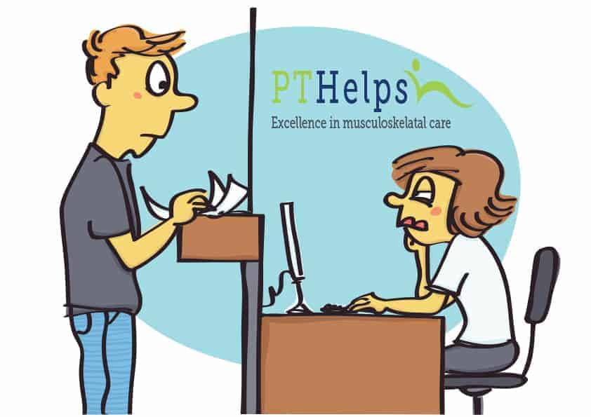 Incoming call training for PTs - funny illustration