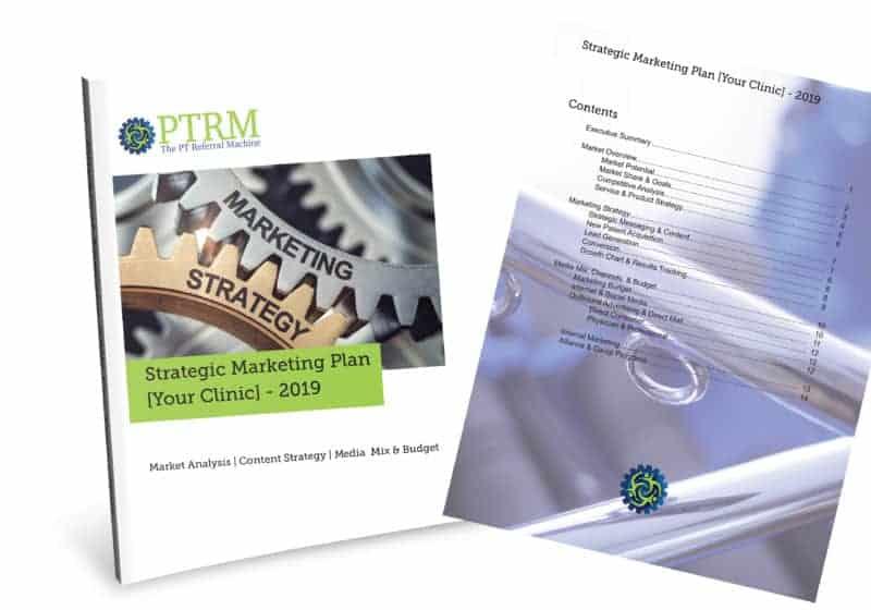PT Referral Machine Strategic Marketing Plan Cover picture