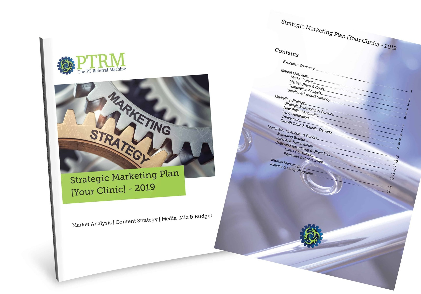 PT Referral Machine Strategic Marketing Plan Cover picture