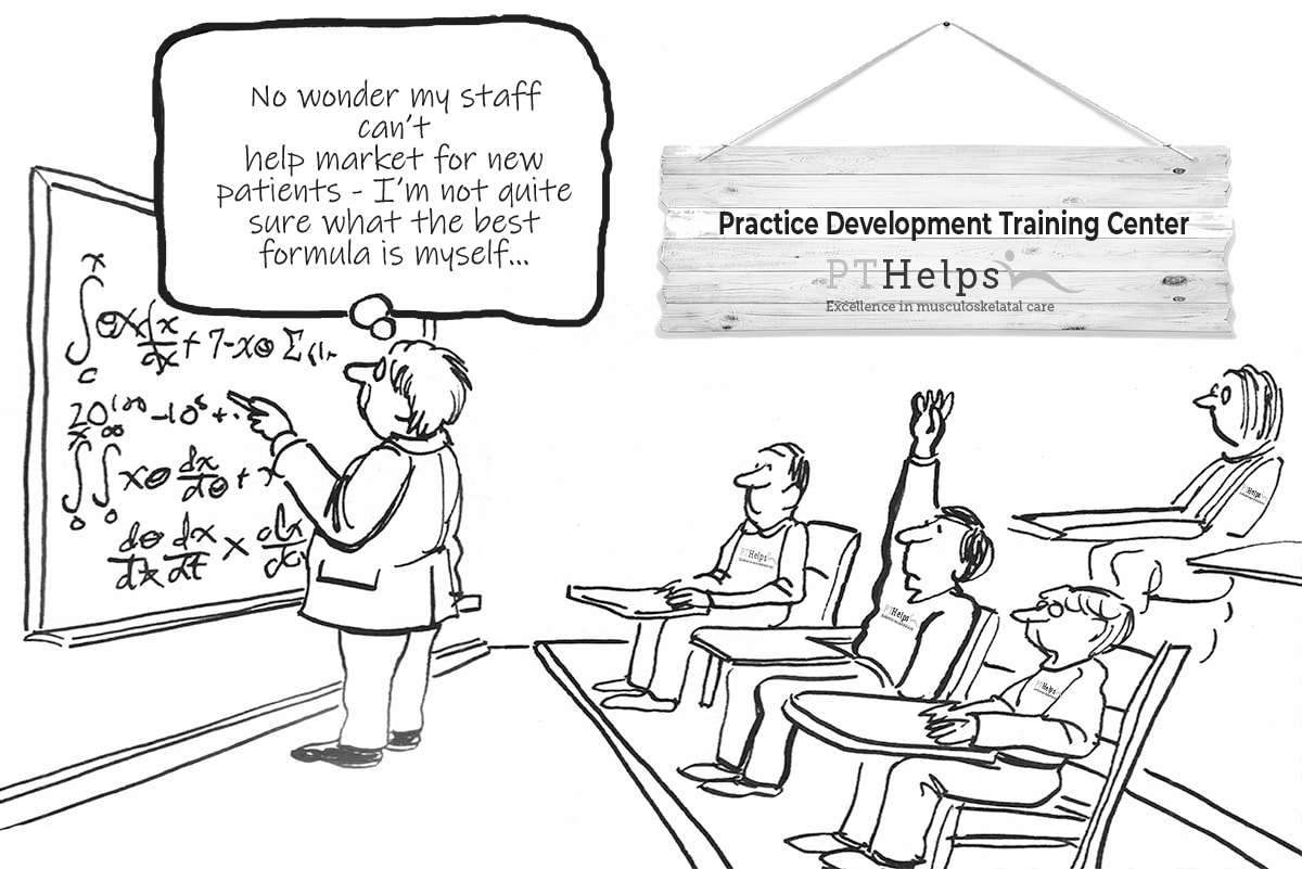 patient acquisition system and training session cartoon