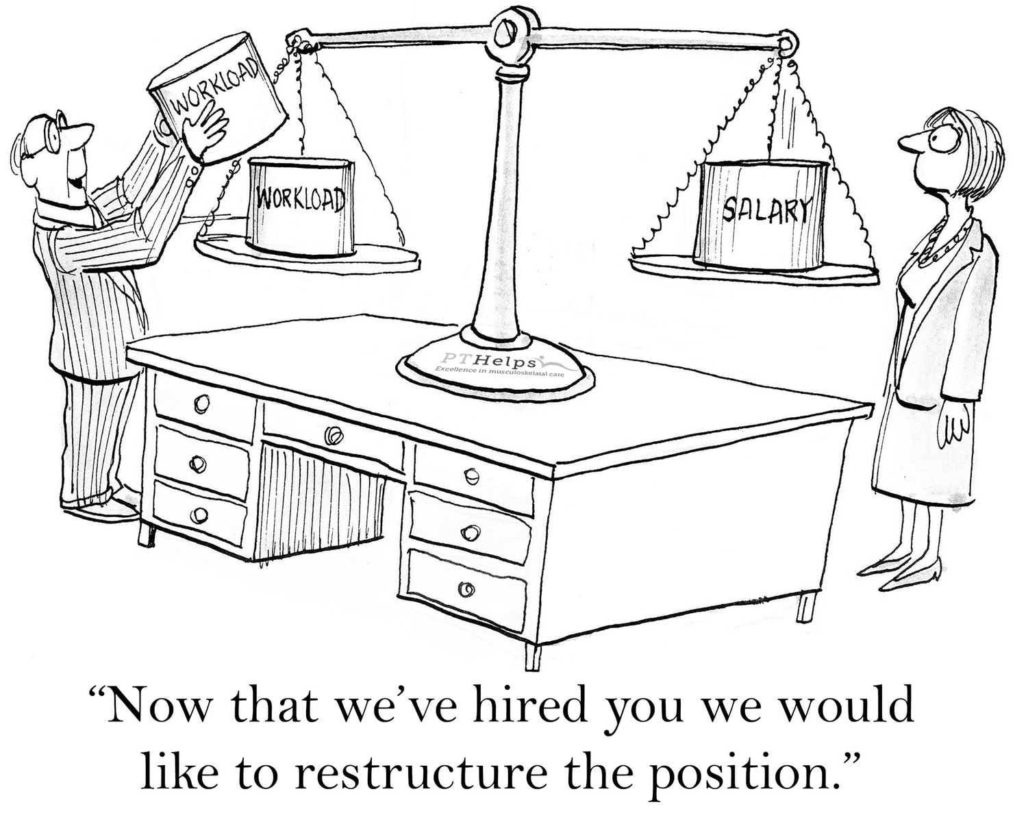 Image - Physical Therapy Employment Workplace Cartoon